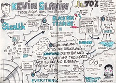 "The Sketchnotes Challenge Entry - Kevin Slavin ""Those algorithms that govern our lives"" (maccymacx) Tags: drawing visual notetaking algorithms sketchnote sketchnotes"