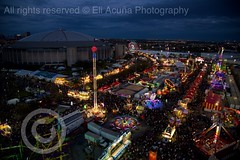 Carnival (Eli N. Acuna) Tags: fun carnival night ring red redring llens shot sky photography wheel 6d canon houston texas rodeo reliantstadium flickriosapp:filter=nofilter uploaded:by=flickrmobile