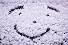 Keep smiling ... 71/365 (Skley) Tags: schnee photo gesicht fuji foto fotografie creative picture commons cc smiley finepix bild eis frhling lcheln f550 kreativ autoscheibe 71365 skley f550exr