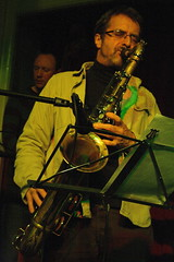 Tim Whitehead Quartet (2013) 02 - Tim Whitehead (KM's Live Music shots) Tags: greatbritain jazz saxophone tenorsax timwhitehead greatnorthernrailwaytavern jazzatthetavern