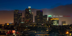 Downtown L.A. skyline from Chinatown (Michael Bandy) Tags: california city fog night losangeles nikon cityscape nightscape socal downtownla southerncalifornia dtla losangelesskyline cityatnight cityskyline downtownlosangeles losangelescounty d600 2485 nikond600 nikon2485mm