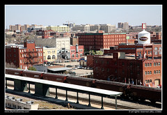 Bricktown, Oklahoma City, OK (SkylineScenes (Bill Cobb)) Tags: city urban oklahoma station skyline train downtown cityscape tracks cargo okc oklahomacity bricktown stockphotography skylinescenes skylinescene