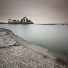 A Little Foggy (MartynHall (Gaining interest)) Tags: morning classic water composition square island early big long exposure mare angle sony wide sigma somerset super filter crop rule weston thirds stopper a77