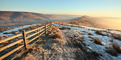Mam Tor Morning (matrobinsonphoto) Tags: light sun sunlight mist mountain fog sunrise fence hope dawn district derbyshire hill peak kinder ridge valley tor lose mam edale castleton