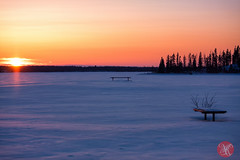 Vast emptiness (Kasia Sokulska (KasiaBasic)) Tags: winter sunset lake snow canada nature beauty evening nationalpark alberta elkisland astotin