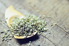 Fennel Seeds (abrowntable) Tags: india cooking kitchen bench recipe healthy rainbow oven furniture indian spice roots cook roast rosemary vegetarian recipes oliveoil fennel seasalt rainbowcarrots ovenroasted