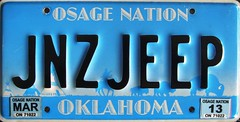 Osage Nation Personalized License Plate (Suko's License Plates) Tags: plaque native indian nation band plate tribal licenseplate license tribe placa patente osage targa matricula kennzeichen targhe numbertag nummerschild nativeamericanindians plaqueimmatriculation triballicenseplates indiantribeslicenseplates