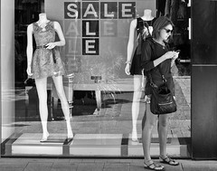 Sale on (Nikonsnapper) Tags: street monochrome 50mm nikon perth nikkor d300s