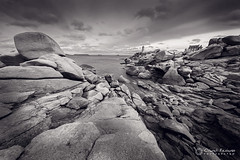 Chaos of rocks / Chaos de rochers (Clment Racineux) Tags: sea mer lighthouse white black france rock landscape coast brittany noir bretagne cte granite coastline perros paysage et blanc phare rocher granit ploumanach tregastel ctes darmor guirrec