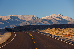 White Mountains From Nevada (Jeffrey Sullivan) Tags: road morning travel light copyright usa canon photography eos golden photo october united nevada whitemountains roadtrip hour states 2014 boundarypeak 5dmarkiii