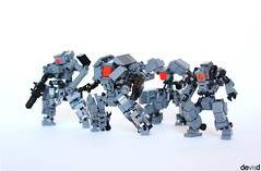 """Assassins Team"" (Devid VII) Tags: lego moc military mech devid vii mecha mobile suit mini war troopers crew foitsop diorama wars trooper detail details drone assassins team 2016 x60 devidvii x61 x62 x63"