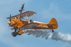 Breitling wing walkers (Robert McEwen) Tags: flight aviation breitlingwingwalkers display spearman aircraft plane biplane aerobatic