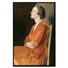 Sir William Rothenstein, Portrait of Gladys Caltrop, 1922 (geldenkirchen) Tags: sirwilliamrothenstein portraitofalady 1922