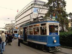 Elefantenparade in Zürich (hrs51) Tags: streetcar strassenbahn tram zürich tmz museumslinie 21 trammuseum zurich switzerland museum historical schweiz suisse svizzera public transport vbz partytram