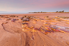 Rocks at Rapid Creek (Louise Denton) Tags: rapidcreek nightcliff darwin nt northernterritory beach sand red coast sunset pastel australia