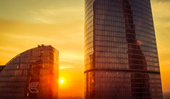 1809-1 (i.gorshkov) Tags: urban travel architecture moscow city skyscraper sunset sun sky clouds orange horizon beautiful view hotel room indoor outdoor business dawn evening building cityscape blue