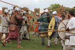 (delta23lfb) Tags: militaryodyssesy livinghistory reenactor vikingvillage regliaanglorum battle