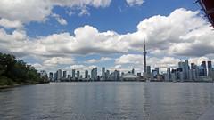 Toronto (soniaadammurray - OFF) Tags: digitalphotography toronto city lake water architecture sky clouds trees landscape mondayblues blue canada construction