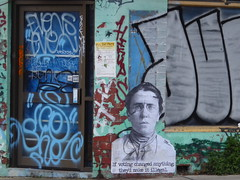 If voting changed anything, they'd make it illegal. (Melbourne Streets Avant-garde) Tags: if voting changed anything theyd make it illegal emma goldman anarchist