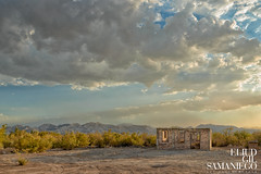 Abandoned House Landscape outside Mexicali - Casa abandonada (Eliud92) Tags: landscape old viejo travel viaje location paisaje paysage clouds nubes casa home abandoned abanonado desert desierto sky cielo mountains fine art color nikon d800 d800e mexicali mexico tripod manfrotto sunset architecture arquitectura atardecer colorefexpro 4 colorefex nik software lightroom lr