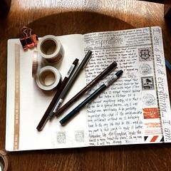 Inspiration (Kathryn Zbrzezny) Tags: visualjournal visualdiary write writing journal inspiration leuchtturm1917 handwriting handwritten