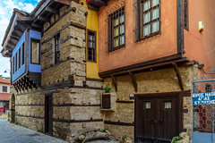 Old colourful houses ... (dimitrisrentis) Tags: edessa makedonia house architecture art street old tradition varosi city colour hellas woods stone graphic macedoniagreece macedonian timeless