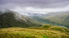 3 Get down from there (daedmike) Tags: glenstriddlehorseshoe luss beinndubh scotland lochlomond rain cloud drizzle water loch hils hillwalking valley grass mist fog