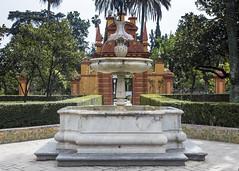 Alcazar Gardens (Hans van der Boom) Tags: europe spain vacation holiday seville sevilla alcazar palace gardens arden fountain dry sp