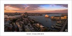 Sunset - Sydney NSW 2016 (John_Armytage) Tags: sunset sydney sydneyharbour harbourbridge operahouse nsw australia pano panorama panoramic johnarmytage sonya7r2 sigma35mm dusk fourseasonshotelsydney fssydney visitnsw ilovesydney
