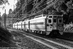 SEPTA 175 on 5325, Wallingford, 2016-09-14 BW (redheadedrobbie1) Tags: septa southeasternpennsylvaniatransportationauthority silverliner silverlineriv generalelectric ge avco emu electricmultipleunit railfan railroad electric passenger commuter