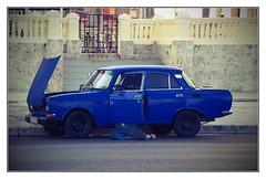 The Mechanic (kurtwolf303) Tags: cuba kuba lahabana havanna auto car oldtimer fahrzeug mechaniker mechanic canoneos600d streetphotography strasenfotografie karibik caribbean fotorahmen frame topf25 250v10f topf50 500v20f topf75