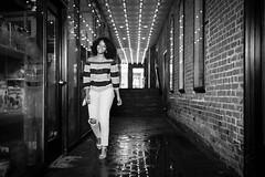 Glamour Walk (Geoff Livingston) Tags: woman black walk street lights fashion glamour girl african american brick