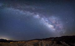 Galactic sky over Zabriskie Point - Explored August 2016 (Justin Cameron) Tags: 24mm milkyway pahrump astrophotography starscape roadtrip canon5dmkiii 2016 badlands deathvalley samyang24mmf14edasumc california westcoast longexposure america canon zabriskiepoint panorama