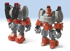 LEGO Ideas Project: GT Power Armor - Front & Back (Lilac Hat Brick) Tags: lego powerarmor powersuit armour mech mecha robot galaxytrooper space neoclassicspace scifi sciencefiction future