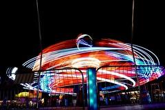 DSC02281 (Moodycamera Photography) Tags: canadiannationalexhibition cne toronto ontario nightphotography rides slowshutterspeed long exposurerlights ferriswheel swing turning twisting spining amusment horse hdr