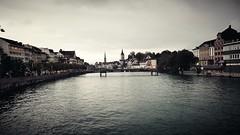 Zurich (Quique CV) Tags: zrich zurich switzerland europa europe ro river puente cloudy nublado verano summer 2016 city ciudad