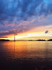 Sunset in August (karolinaskaos) Tags: sunset finland autumn summer sommar hst syksy finnish suomi kes vaasa vasa sterbotten pohjanmaa landscape city colours sky view sea