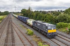I 080 North Wall-Ballina IWT liner, Hazelhatch (Eiretrains) Tags: 071class iwt grey hazelhatch liner iarnrdireann irishrail irishrailways ireland generalmotors diesellocomotive containertrain freighttrain