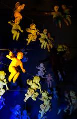 Angels in Varadin (Dino Barsic) Tags: angels angel varazdin croatia balkan europe urban installation light colors color shadows dark decoration outdoor night scene anelinjak canon600d art