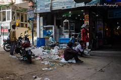 Nizamuddin dargah basti-14 (Sanjukta Basu) Tags: delhi restorationproject nizamuddin urbanpoor poverty men unemployed street slum basti india outdoor people streetphotography
