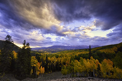 Autumn Day in Colorado (hokie311) Tags: colorado autumn fall aspen trees landscape landscapes clouds cloud wideangle gunnison mountains