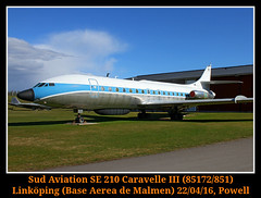 Todo un clasico de bienvenida (Powell 333) Tags: sud aviation se 210 caravelle iii 85172851 sudaviation se210 caravelleiii 85172 851 linkping malmen escf sweden swedishairforce swedish airforce air force suecia europa europe museo canon canoneos7d eos7d eos 7d powell avin avion aircraft airport aeropuerto aviones airlines airways stergtland