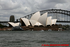 Sydney - Royal Botanic Gardens -  Opera House and Harbour Bridge (soyouz) Tags: aus australie gardenisland geo:lat=3386131650 geo:lon=15122085150 geotagged moorepark newsouthwales sydney parc operahouse patrimoineunesco pont harbourbridge australiel