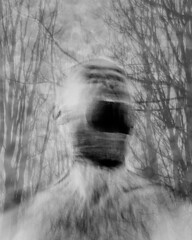 Bad day at the office (Gary Sanders Photography) Tags: doubleexposure portrait screaming blurredmotionmovement depression anger angry shouting moody bipolar seasonalaffectivedisorder winter trees branches bald beard
