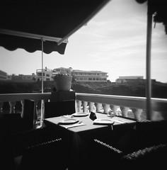 (Vlado V) Tags: 120 film analog mediumformat restaurant holga lomo spain kodak tmax fuerteventura 400 elcotillo