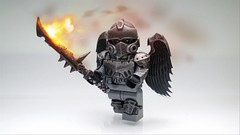 Nuriel , Angel of Fire ([N]atsty) Tags: bw angel fire lego warhammer minifig custom minifigure nuriel brickwarriors uploaded:by=flickrmobile flickriosapp:filter=nofilter
