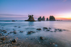 Winter Dusk at Minokakeiwa-islets [Explore] (-TommyTsutsui- [nextBlessing]) Tags: longexposure blue winter light sunset sea sky orange seascape beach nature rock japan landscape coast nikon purple magic tide scenic shore       islet izu   minokakeiwa minamiizu sigma1020   onsalegettyimages