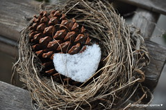 Winter Love Note ... (Vintage Sparrow) Tags: winter inspiration snow love home garden blessings nest gifts gratitude homesweethome
