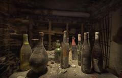 Ghost in the Wine cellar  (explore ) (andre govia.) Tags: abandoned buildings hospital dark kent bottle wine decay best creepy urbanexploration horror cellar seller borders andregovia