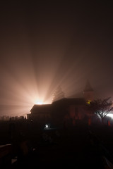 Let the Light Shine Through (Cbakley) Tags: church fog night foggy nj nikond50 oceanview chrisbakley cbakley